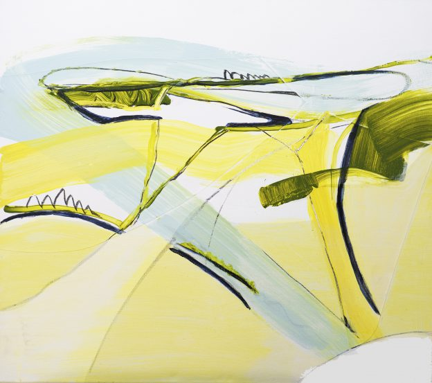 24<>Spindrift 2<>Acrylics and graphite on canvas<>80x90 cm