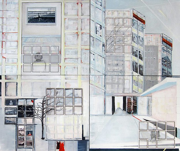 7<>Meet you on the rooftop (combined)<>Oil on canvas<>100x120 cm