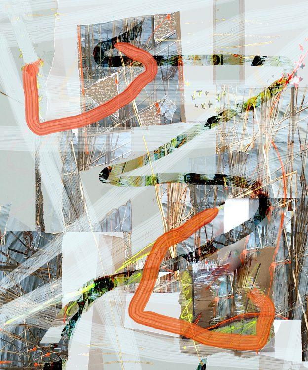 99<>Lac du Der 3<>Acrylic on photo<>Print<>size:optional