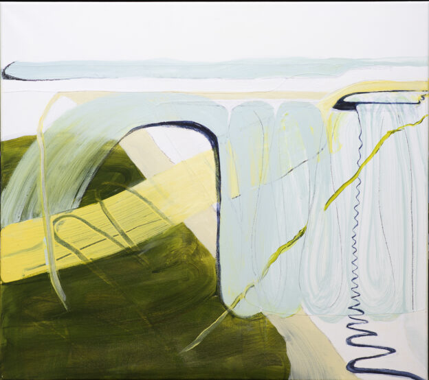 25<>Spindrift 3 <>Acrylics and graphite on canvas<>80x90 cm