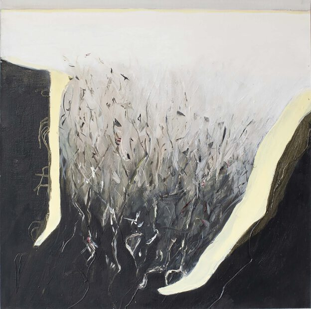 Nature, Nurture 2 oil on paper on MDF  46x46 cm