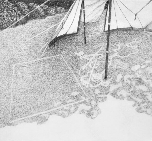 Holiday tapestry 1, pencil on paper, 23x20 cm